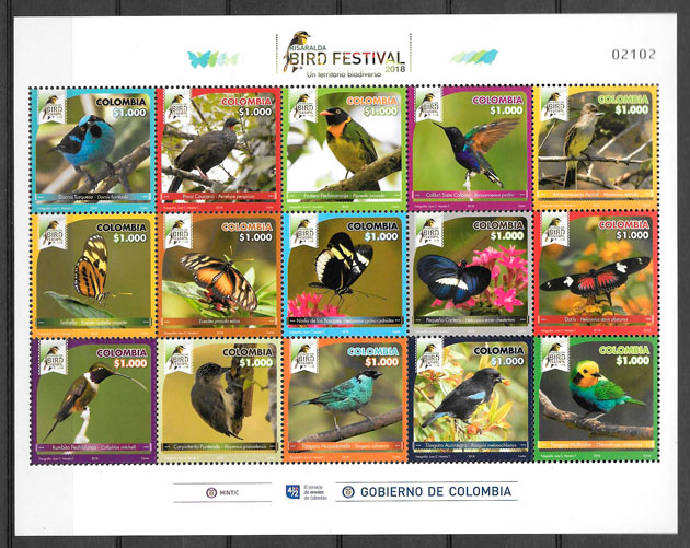 sellos fauna Colombia 2018