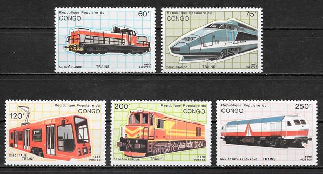 sellos trenes Congo 1991