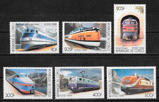 sellos trenes Congo 1999