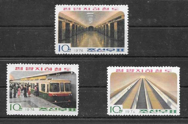 Colección sellos terminación del metro de Corea