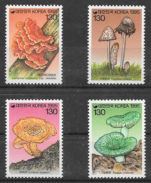 Filatelia hongos Corea del sur 1995