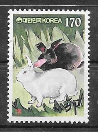 sellos año lunar Corea del sur 1998