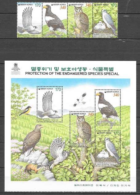sellos fauna Corea del Sur 1999