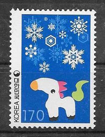 sellos año lunar Corea del Sur 2001