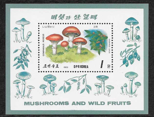 Filatelia sellos Corea del Norte-1989-02