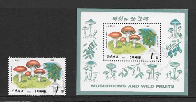 Filatelia sellos Corea del Norte-1989-03