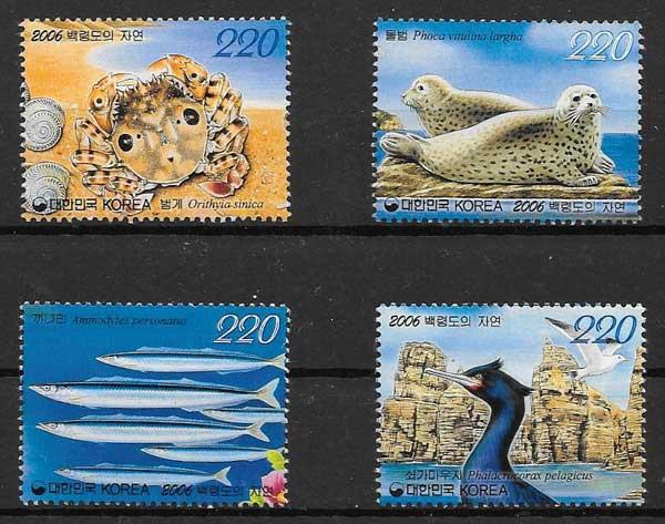 sellos fauna Corea del Sur 2006