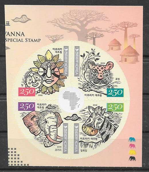 sellos fauna Corea del Sur 2008