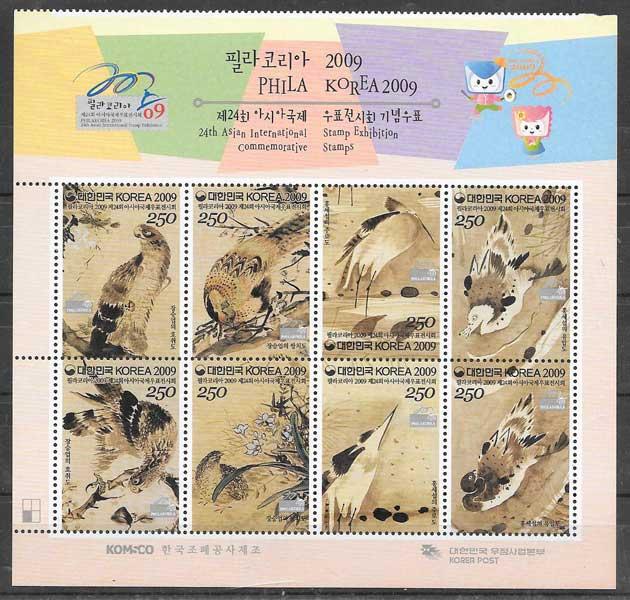sellos fauna Corea del Sur 2009