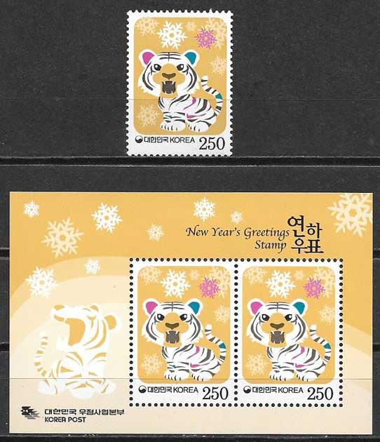sellos año lunar orea del Sur 2009