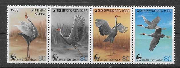 Sellos fauna protegida Corea del Sur