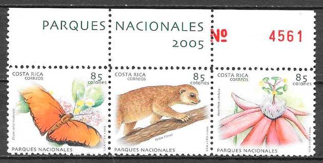 sellos fauna y flora Costa Rica 2005