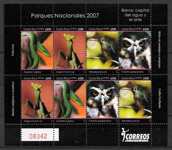 sellos fauna Costa Rica 2007