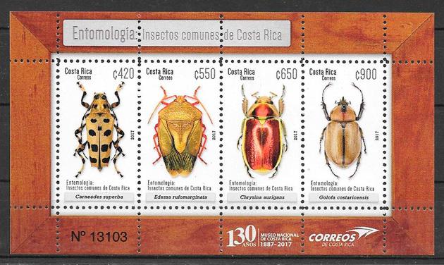 colección sellos fauna Costa Rica 2017
