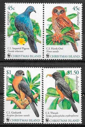 colección sellos fauna wwf Christmas Island 2002