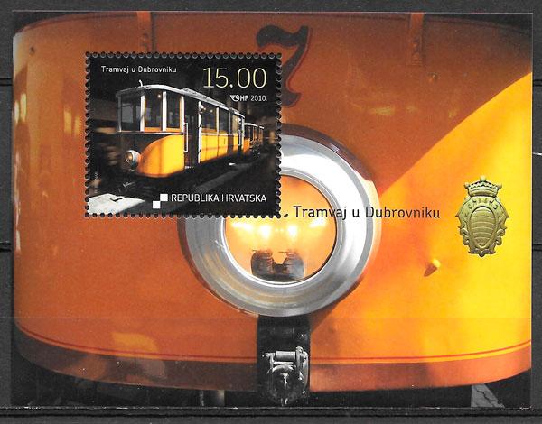 filatelia colección trenes Croacia 2010