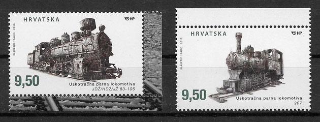 sellos trenes Croacia 2016