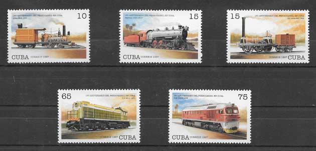 Sellos aniversario 160 del ferrocarril