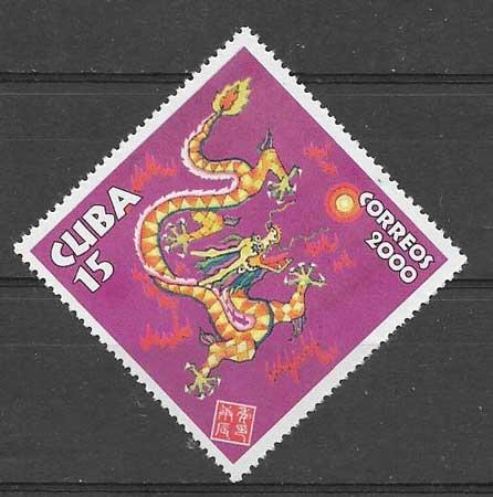 Colección Sellos Cuba-2000-01