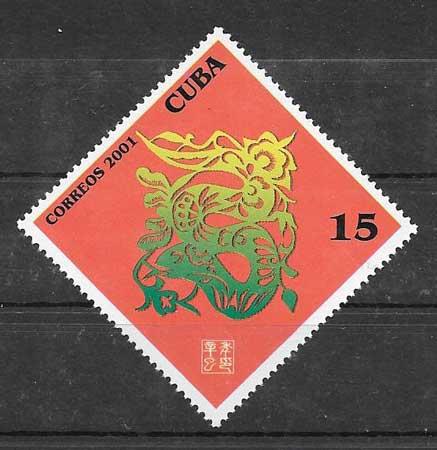 Colección Sellos Cuba-2001-01