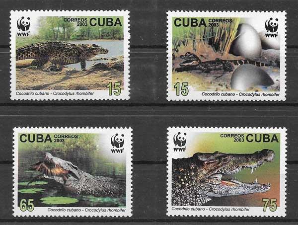 Sellos fauna protegida Cuba 2003