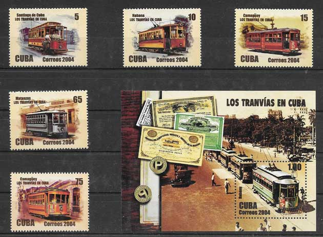 sellos transporte ferroviario en Cuba