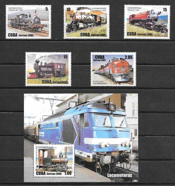 sellos transporte ferroviario - locomotoras
