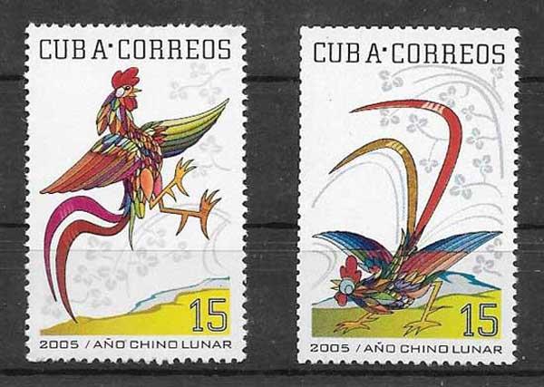 Estampillas Cuba-2005-01