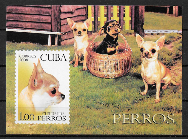sellos perros Cuba 2008
