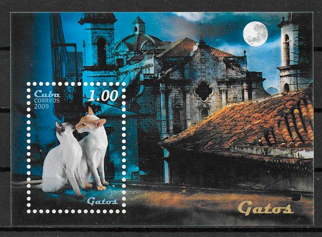 filatelia gatos Cuba 2009