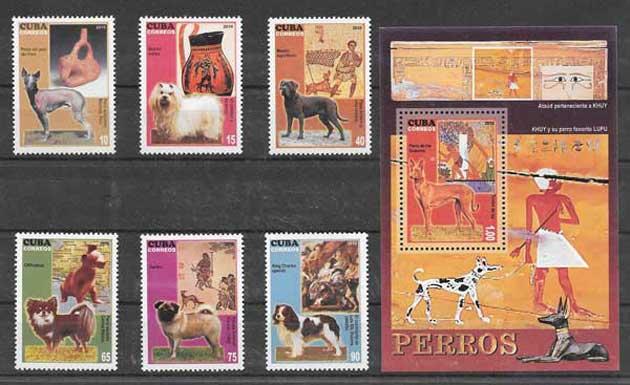 Sellos filatelia fauna perros y gatos 2010