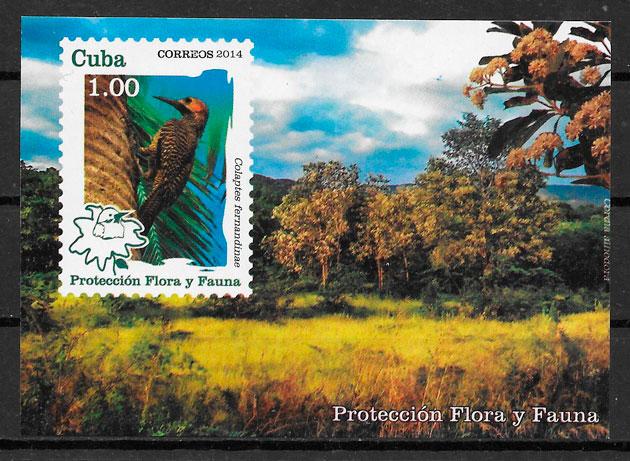 colección sellos fauna y flora Cuba 2014