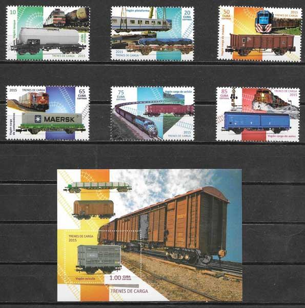 Filatelia transporte Cuba 2015