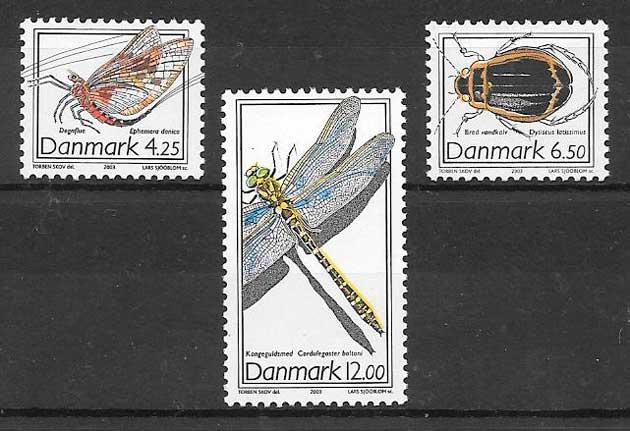 filatelia fauna 2003 Dinamarca