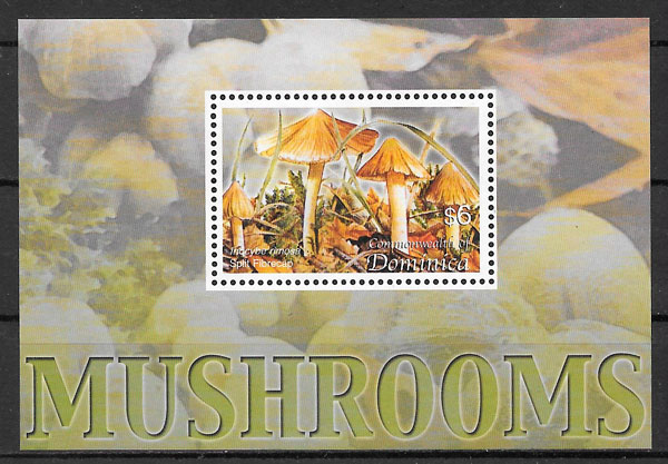 sellos setas Dominica 2005