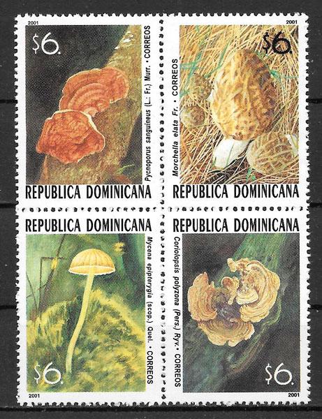 filatelia setas Dominicana setas 2001