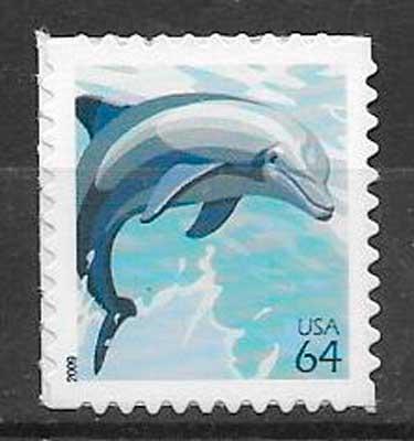 colección sellos fauna USA 2009