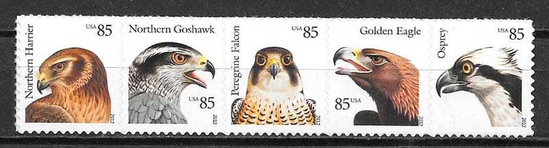 colección sellos fauna EE:UU 2012