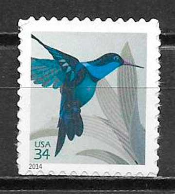 filatelia colección fauna EE.UU 2014