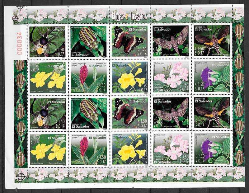 filatelia fauna y flora El Salvador 2003