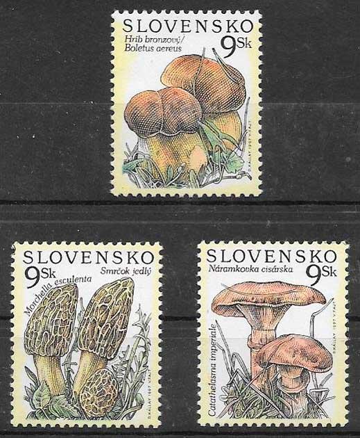 filatelia setas Eslovaquia 1997