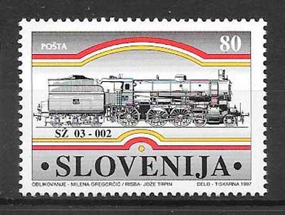 sellos tres Eslovenia 1997