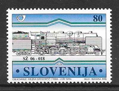 sellos trenes Eslovenia 1998