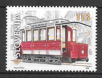 sellos trenes Eslovenia 2001
