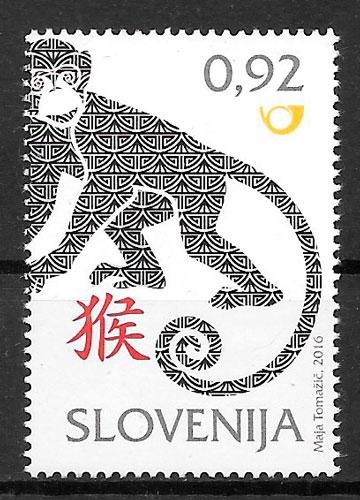 filatelia año lunar Eslovenia 2016