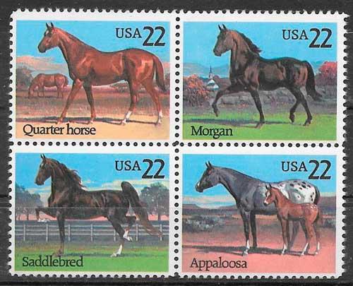 filatelia fauna EE:UU 1985