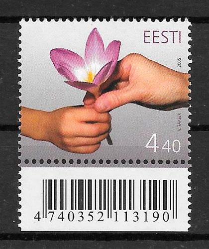 colección sellos flora Estonia 2005