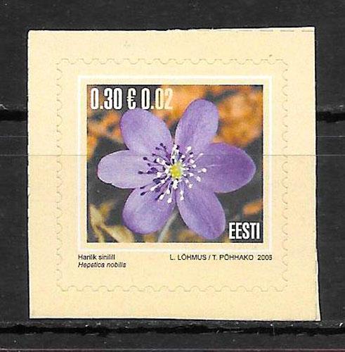 filatelia colección flora Estonia 2006