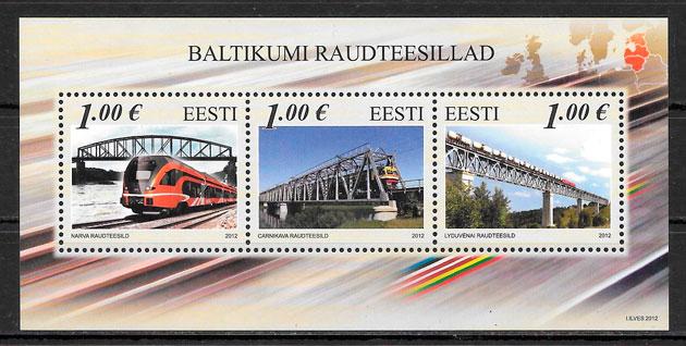 sellos trenes Estonia 2012