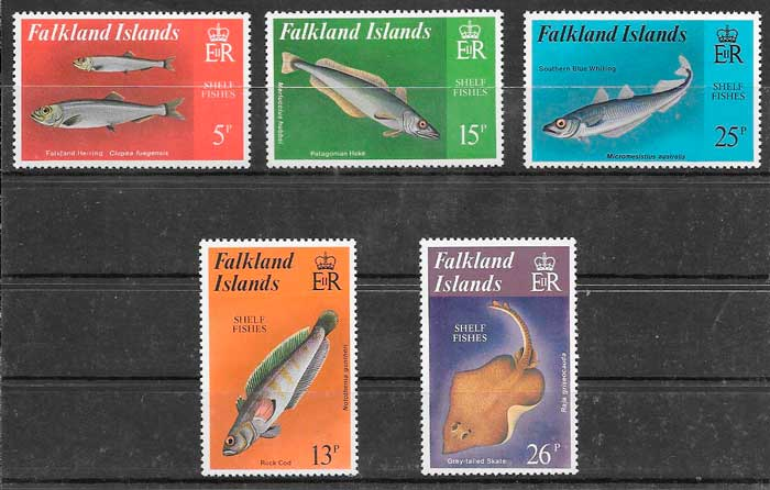 colección sellos fauna Falkland Island 1998